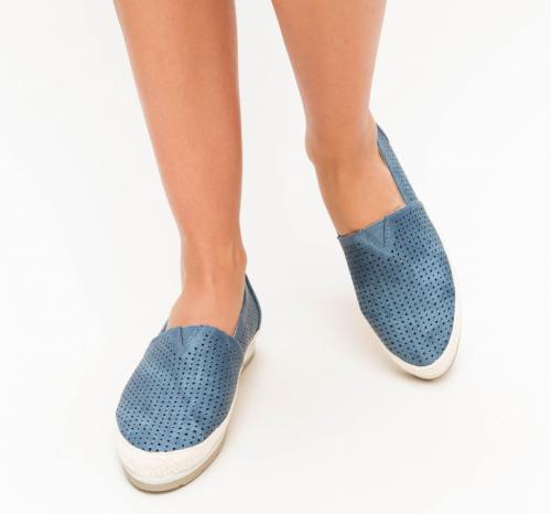 Espadrile Taco Albastre - Incaltaminte casual femei - Pantofi casual