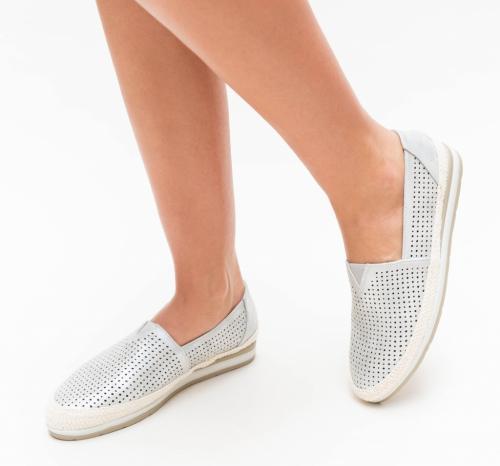 Espadrile Taco Argintii - Incaltaminte casual femei - Pantofi casual