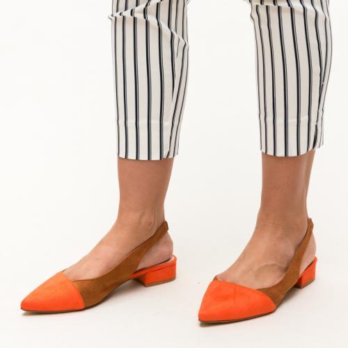 Pantofi Adams Portocalii - Pantofi eleganti - Pantofi cu toc mic