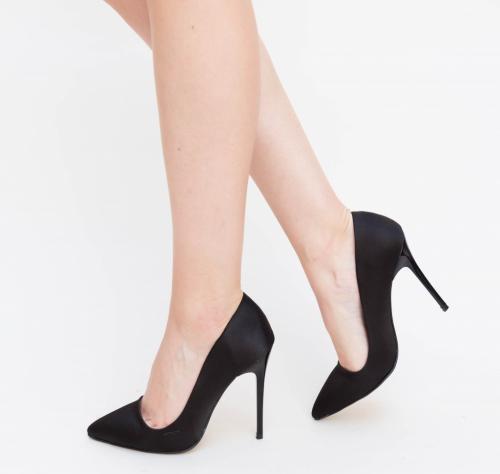 Pantofi Bedes Negri - Pantofi eleganti - Pantofi cu toc subtire