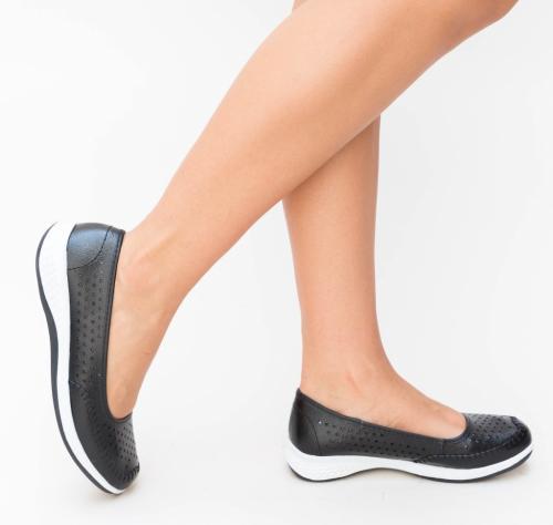 Pantofi Casual Banto Negri - Incaltaminte casual femei - Pantofi casual