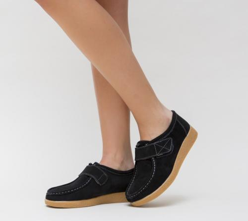 Pantofi Casual Boba Negre - Incaltaminte casual femei - Pantofi casual