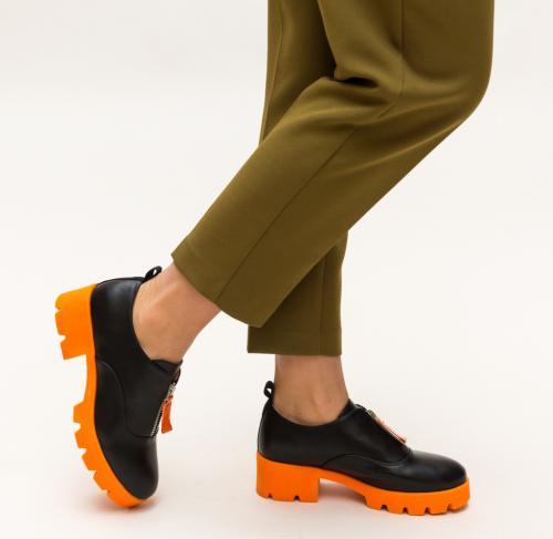 Pantofi Casual Corola Portocali - Incaltaminte casual femei - Pantofi casual