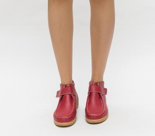 Pantofi Casual Debir Rosii - Incaltaminte casual femei - Pantofi casual