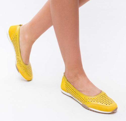 Pantofi Casual Doro Galbeni - Incaltaminte casual femei - Pantofi casual
