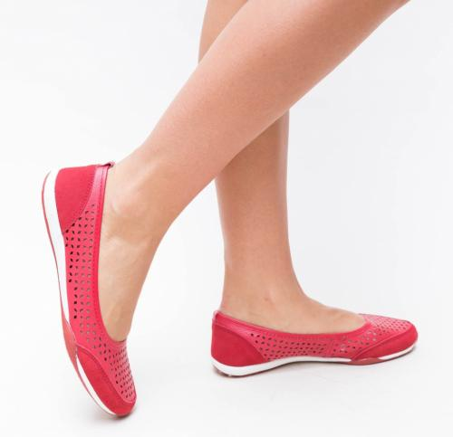 Pantofi Casual Doro Rosii - Incaltaminte casual femei - Pantofi casual