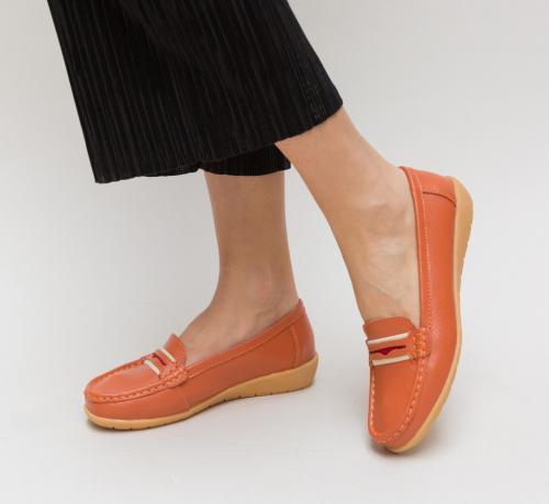 Pantofi Casual Grifis Portocalii - Incaltaminte casual femei - Pantofi casual
