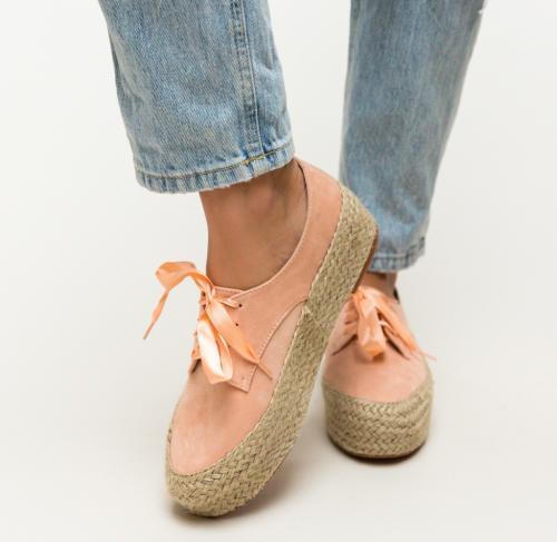 Pantofi Casual Kiran Roz - Incaltaminte casual femei - Casual cu platforma