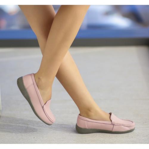 Pantofi Casual Leida Roz - Incaltaminte casual femei - Pantofi casual