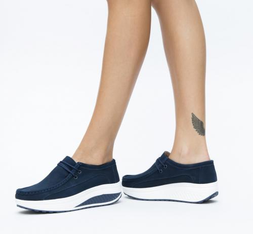 Pantofi Casual Marco Bleu - Incaltaminte casual femei - Mocasini de dama