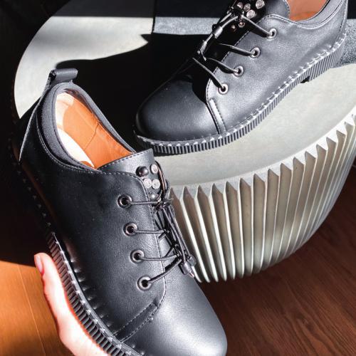Pantofi Casual Mitra Negri - Incaltaminte casual femei - Pantofi casual