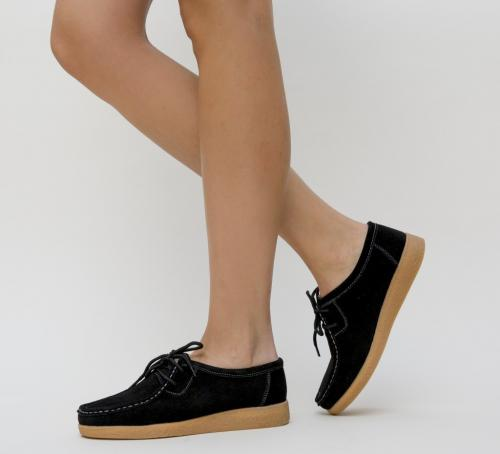 Pantofi Casual Neca Negri - Incaltaminte casual femei - Pantofi casual
