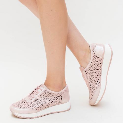 Pantofi Casual Pova Roz - Incaltaminte casual femei - Pantofi casual