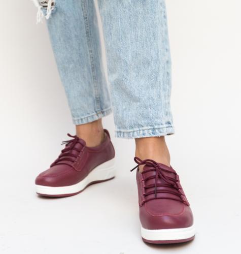 Pantofi Casual Roma Grena - Incaltaminte casual femei - Pantofi casual