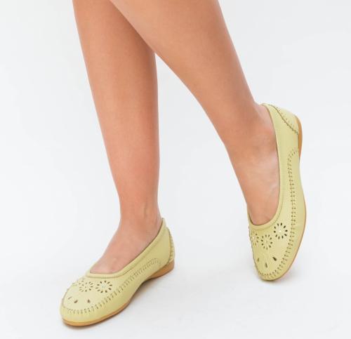 Pantofi Casual Ruba Galbeni - Incaltaminte casual femei - Pantofi casual