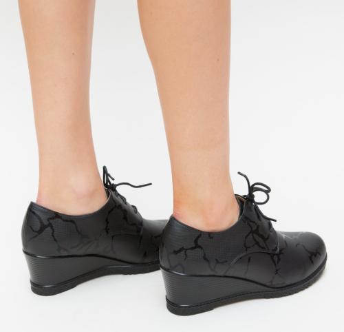 Pantofi Casual Selin Negri - Incaltaminte casual femei - Casual cu platforma
