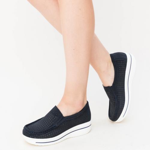 Pantofi Casual Sista Bleumarin - Incaltaminte casual femei - Mocasini de dama