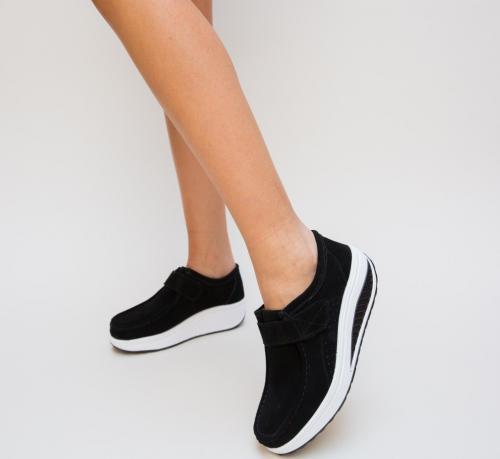 Pantofi Casual Tinna Negri - Incaltaminte casual femei - Mocasini de dama
