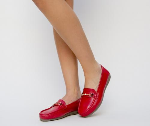 Pantofi Casual Tonia Rosii - Incaltaminte casual femei - Pantofi casual