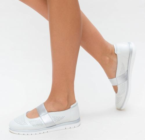 Pantofi Casual Vetin Albi - Incaltaminte casual femei - Pantofi casual