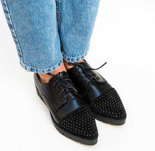 Pantofi Casual Xena Negri - Incaltaminte casual femei - Pantofi casual