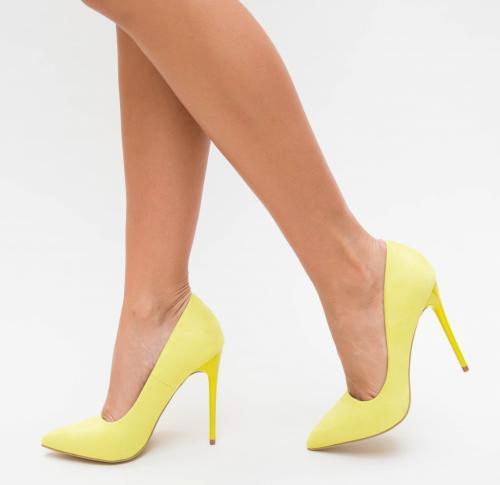 Pantofi Cu Toc Onix Galben - Pantofi eleganti - Pantofi cu toc subtire