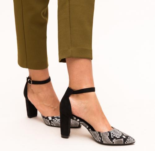 Pantofi Cupra Negri - Pantofi eleganti - Pantofi cu toc gros