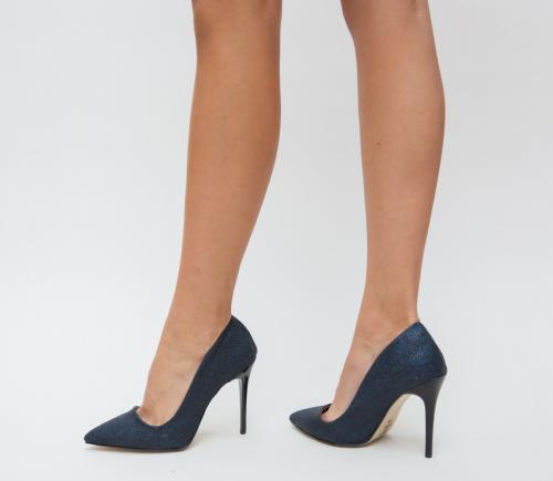 Pantofi Demas Bleumarin - Pantofi eleganti - Pantofi cu toc subtire