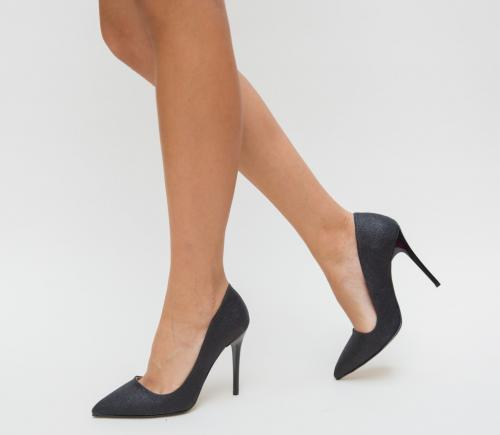 Pantofi Demas Negri - Pantofi eleganti - Pantofi cu toc subtire