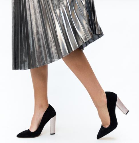 Pantofi Eldan Negri - Pantofi eleganti - Pantofi cu toc gros