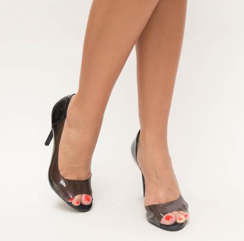Pantofi Fabo Negre - Pantofi eleganti - Pantofi cu toc subtire