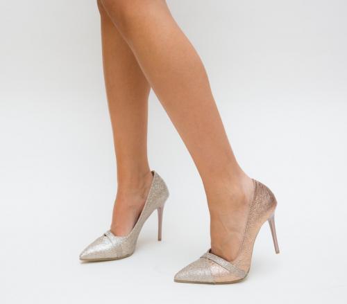Pantofi Grigor Aurii 2 - Pantofi eleganti - Pantofi cu toc subtire
