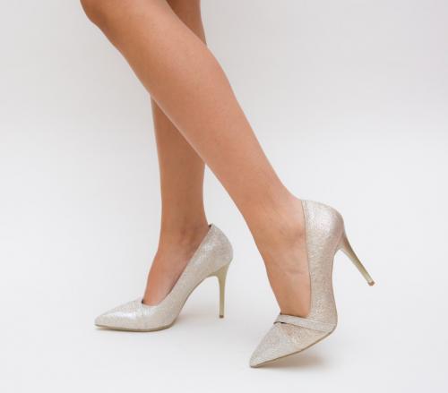Pantofi Grigor Aurii - Pantofi eleganti - Pantofi cu toc subtire