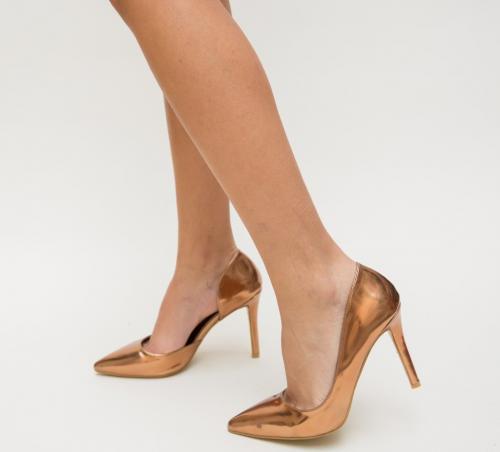 Pantofi Hedof Aurii 2 - Pantofi eleganti - Pantofi cu toc subtire