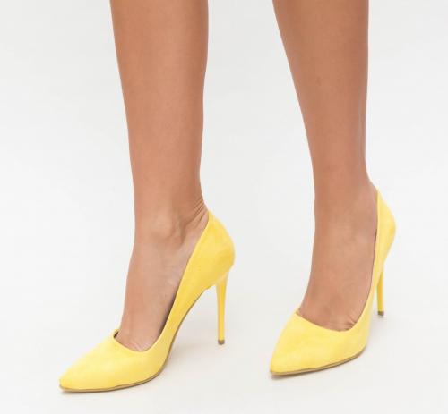 Pantofi Jaba Galbeni 2 - Pantofi eleganti - Pantofi cu toc subtire