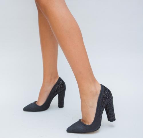 Pantofi Jimas Negri - Pantofi eleganti - Pantofi cu toc gros
