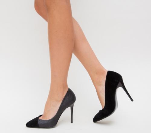 Pantofi Jurca Negri - Pantofi eleganti - Pantofi cu toc subtire