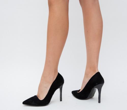 Pantofi Miamo Negri - Pantofi eleganti - Pantofi cu toc subtire