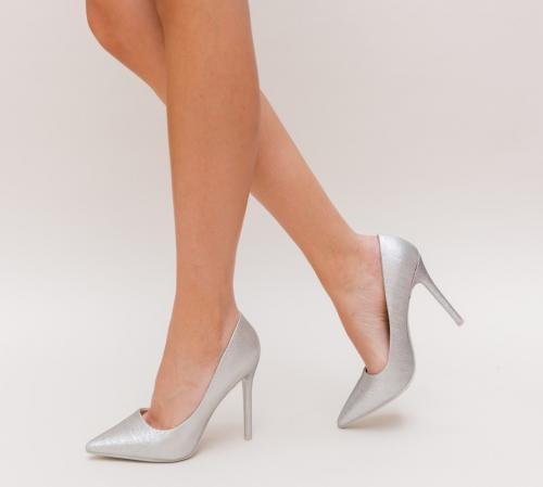 Pantofi Nimio Gri - Pantofi eleganti - Pantofi cu toc subtire