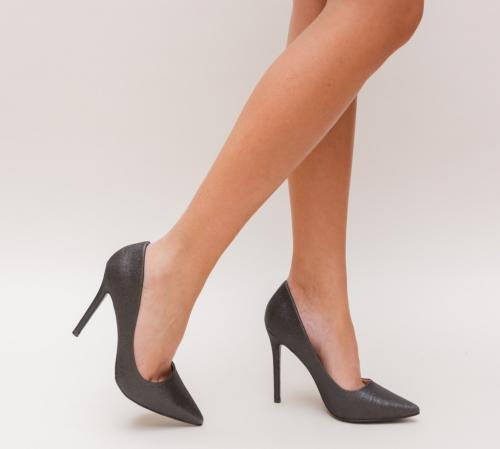 Pantofi Nimio Negri - Pantofi eleganti - Pantofi cu toc subtire