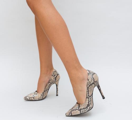 Pantofi Salvy Bej - Pantofi eleganti - Pantofi cu toc subtire