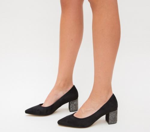 Pantofi Sidonia Negri - Pantofi eleganti - Pantofi cu toc gros