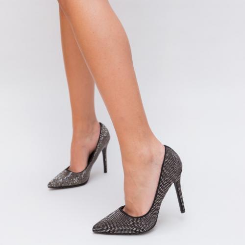 Pantofi Somerda Negri 2 - Pantofi eleganti - Pantofi cu toc subtire