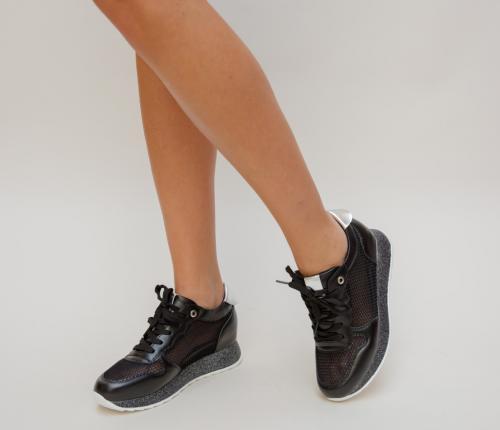 Pantofi Sport Dexter Negri - Incaltaminte sport dama - Pantofi sport cu platforma