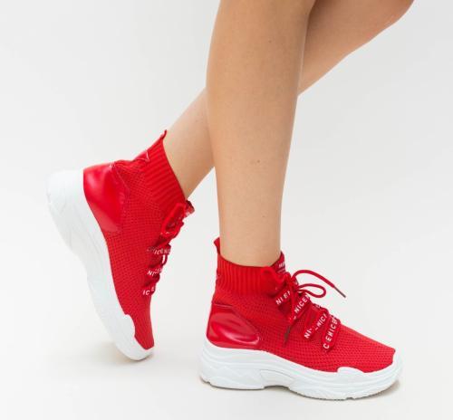 Pantofi Sport Faby Rosii - Incaltaminte sport dama -