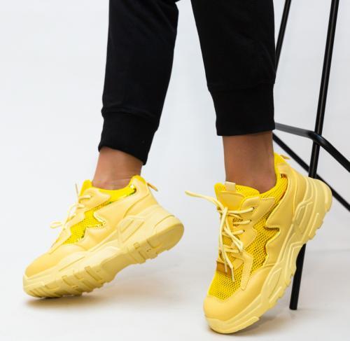 Pantofi Sport Horace Galbeni - Incaltaminte sport dama -