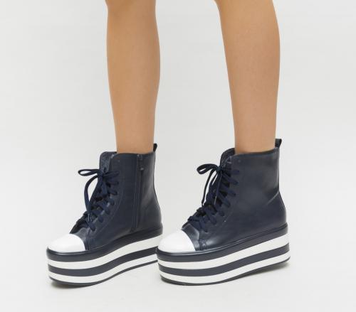 Pantofi Sport Inter Bleumarin - Incaltaminte sport dama - Pantofi sport cu platforma
