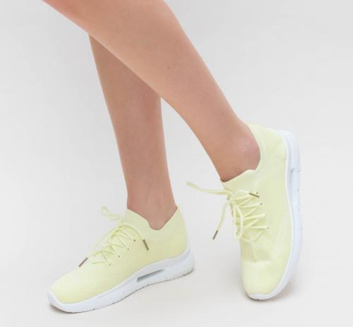 Pantofi Sport Monita Galbeni - Incaltaminte sport dama -