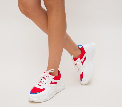 Pantofi Sport Rela Rosii - Incaltaminte sport dama -
