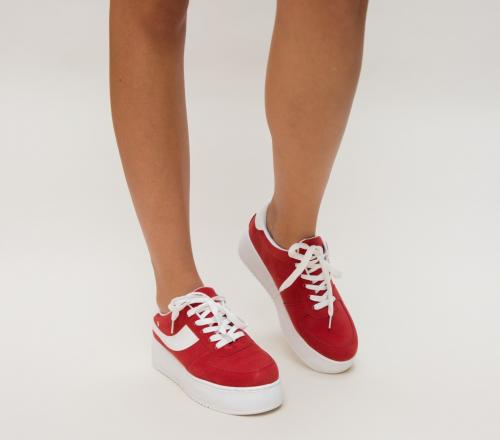 Pantofi Sport Visano Rosii - Incaltaminte sport dama -